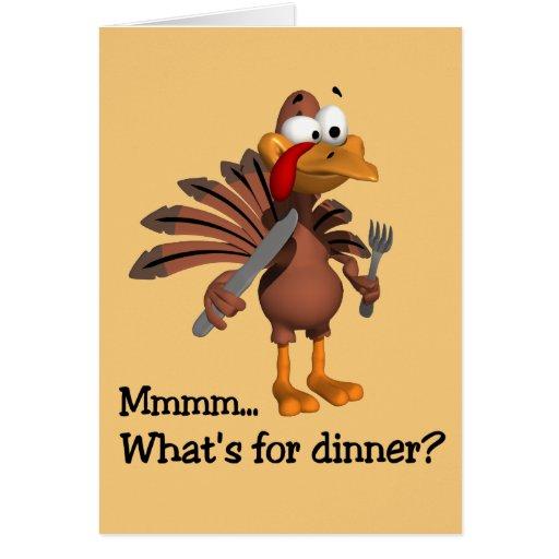 ¿Cuál está para la cena? Tarjeta de la acción de g