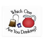 ¿Cuál usted está bebiendo?