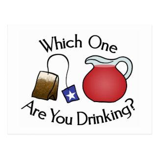 ¿Cuál usted está bebiendo? Tarjetas Postales