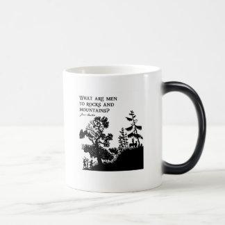 Cuáles son hombres a las rocas y a las montañas taza de café