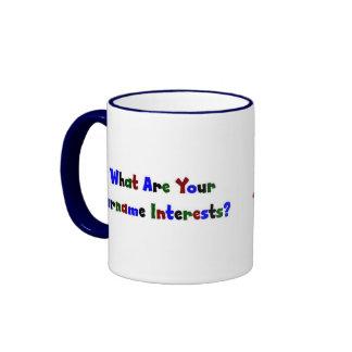 ¿Cuáles son sus intereses del apellido? Tazas De Café
