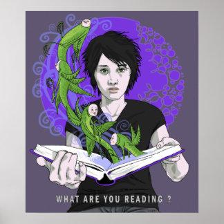 Cuáles son usted impresión de la lectura póster