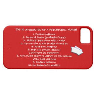 Cualidades del top 10 de un Enfermera-Humor iPhone 5 Case-Mate Cobertura