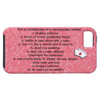 Cualidades del top 10 de un Enfermera-Humor psiqui iPhone 5 Case-Mate Protector