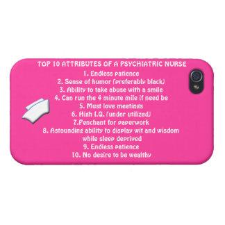 Cualidades del top 10 de un Psych. Enfermera+casqu iPhone 4 Funda