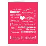 Cualidades/rosa del ayudante del feliz cumpleaños/ felicitación