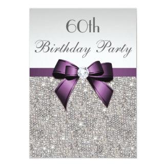 """Cualquie arco violeta de las lentejuelas de la invitación 5"""" x 7"""""""
