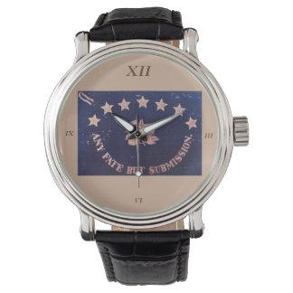 Cualquie bandera regimental del sino pero de la relojes de pulsera