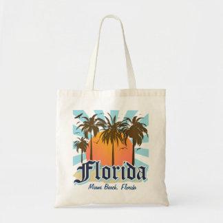 (Cualquie ciudad) la Florida personalizada Bolsas Lienzo