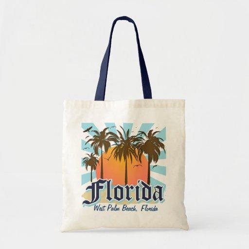 (Cualquie ciudad o playa) la Florida personalizada Bolsa Tela Barata