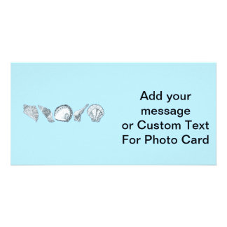 Cualquie colección dibujada mano del Seashell del Tarjetas Fotográficas Personalizadas