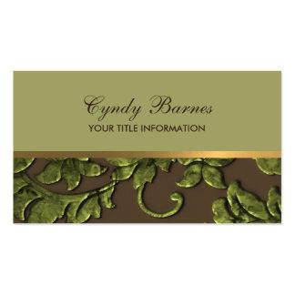 Cualquie color con Brown y la tarjeta de visita