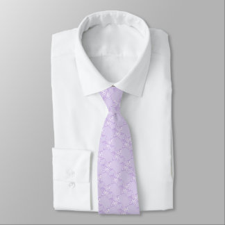 Cualquie color con la estrella de la lavanda del corbata personalizada
