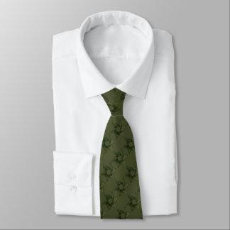 Cualquie color con la estrella de verde de musgo corbata