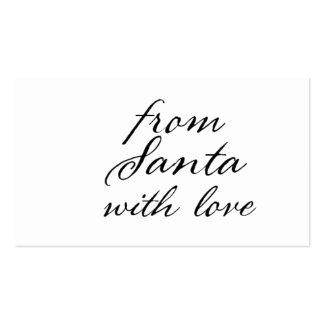 Cualquie color con negro de Santa con la etiqueta Tarjetas De Visita
