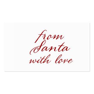 Cualquie color de Santa con la etiqueta del regalo Tarjetas De Visita