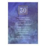 Cualquie cumpleaños de mármol púrpura azul del núm