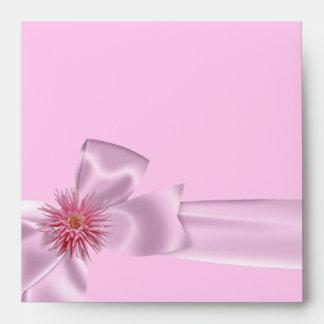 Cualquie dalia floral rosada bonita blanca del aco sobres
