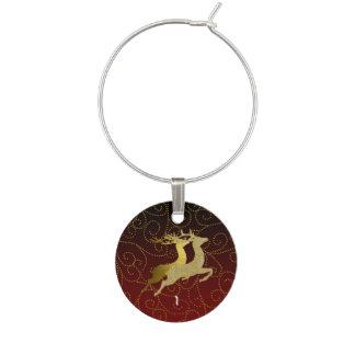 Cualquie día de fiesta del reno del oro de Ombre Identificadores De Copas