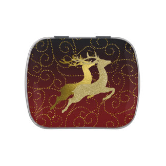 Cualquie día de fiesta del reno del oro de Ombre Jarrones De Dulces