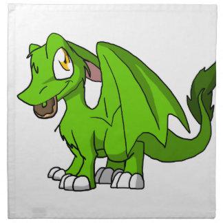 Cualquie dragón peludo del SD del color con el Servilletas Imprimidas
