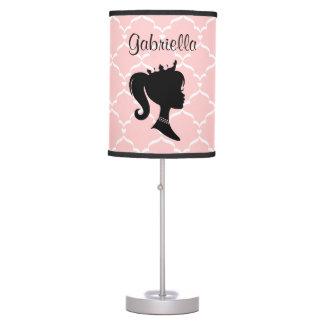 Cualquie fondo del color - princesa personalizada lámpara de mesa