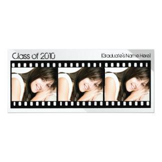"""Cualquie graduación de Filmstrip de la foto del Invitación 4"""" X 9.25"""""""