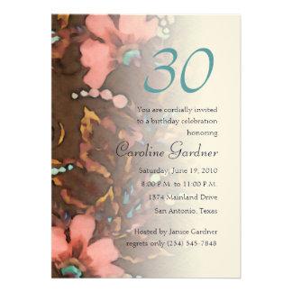 Cualquie invitación 5x7 del cumpleaños del número