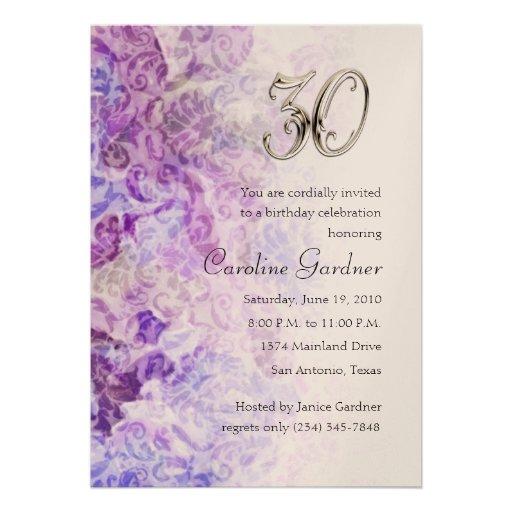 Cualquie invitación del cumpleaños del número
