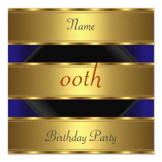 Cualquie negro 3 del oro de la fiesta de invitacion personalizada