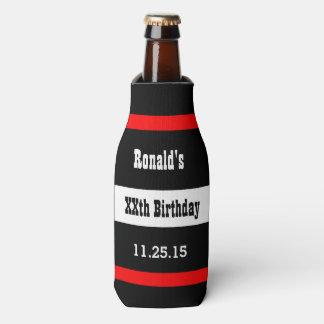 Cualquie negro del cumpleaños del año con el enfriador de botellas