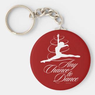 Cualquie ocasión de bailar llavero redondo tipo pin