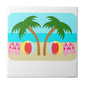 Cualquie playa que usted quiera azulejo cuadrado pequeño