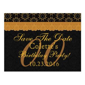 Cualquie reserva del año el cordón 08 del negro postal
