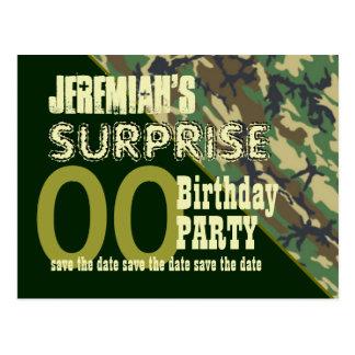 Cualquie reserva del cumpleaños de la sorpresa del postales