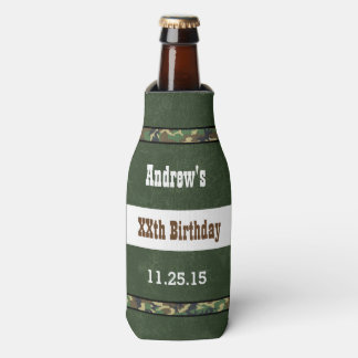 Cualquie rojo del cumpleaños del año con el marco enfriador de botellas