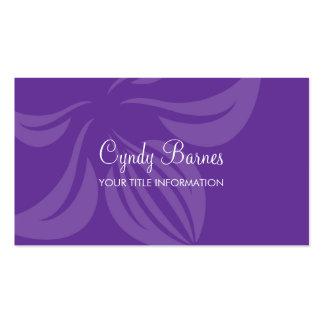 Cualquie tarjeta de visita de la orquídea del