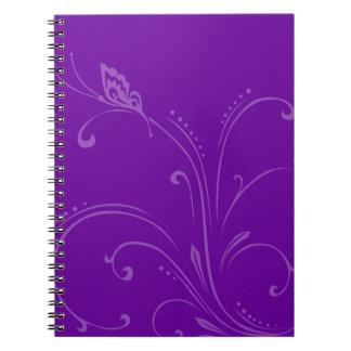 Cualquie vid de la mariposa del color cuadernos