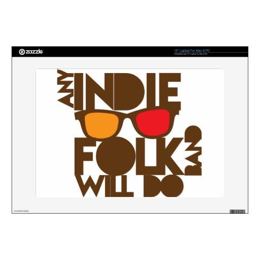 Cualquier banda popular del indie hará música del  38,1cm portátil calcomanía