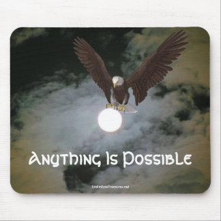 Cualquier cosa es Eagle posible Mousepad inspirado