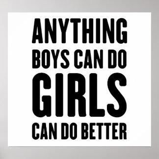 Cualquier cosa los muchachos pueden hacer, los chi póster