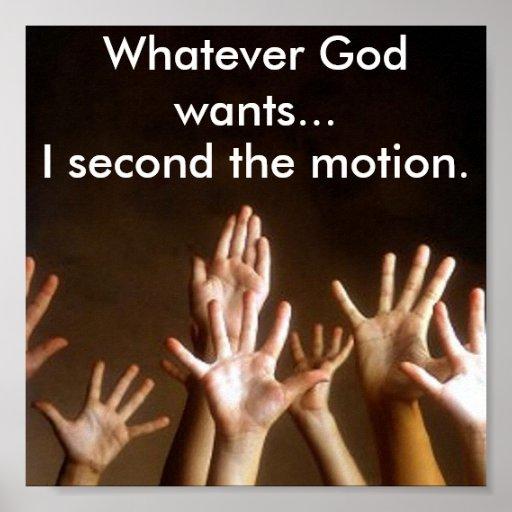 Cualquier dios quiere… I en segundo lugar el movim Posters