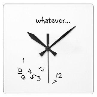 Cualquier en punto reloj cuadrado