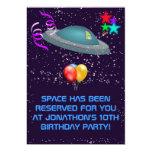 CUALQUIER extranjero de espacio de la EDAD embroma Invitación 12,7 X 17,8 Cm