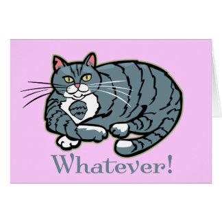 Cualquier gato tarjeta de felicitación