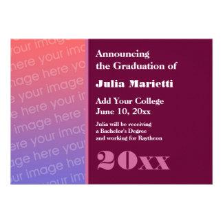 Cualquier graduación del año añade su propio rosa  anuncio personalizado