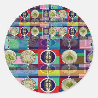Cualquier ocasión - conecte con la colección del pegatina redonda