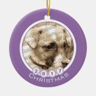 Cualquier persona fecha navidad ornamento púrpura  ornaments para arbol de navidad