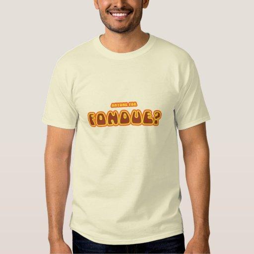 """Cualquier persona para la """"fondue"""" - camiseta remera"""