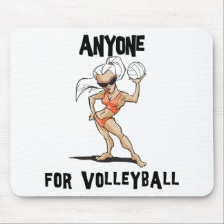 Cualquier persona para las mujeres del voleibol tapetes de ratones